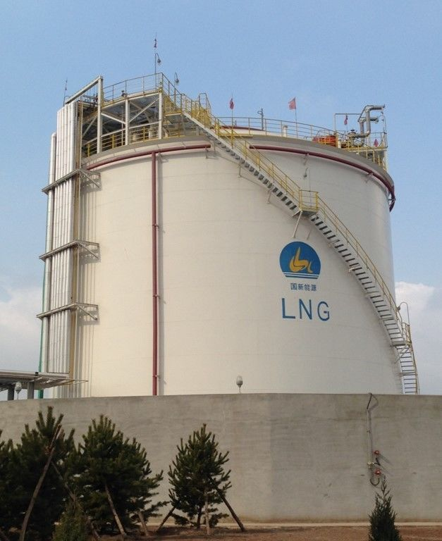 Cryogenic LNG Storage Tanks Single Containment Natural Gas Liquefaction Plant